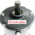 Motor 12 volt 20 tooth spline|