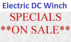 Winch electric DC specials|