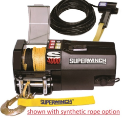 S4000 shown with synthetic rope|