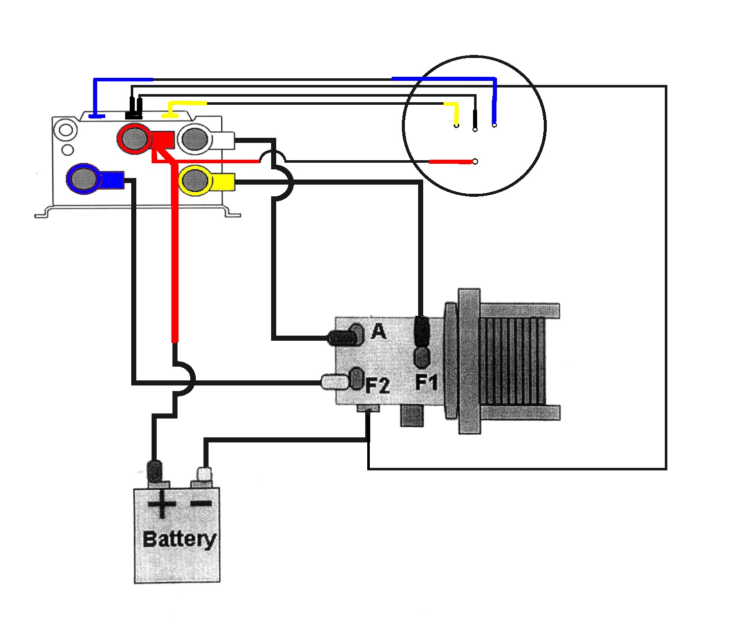 Motor 12 volt Iskra Mahle | Winch Motor Wiring Diagram |  | B&C Winches